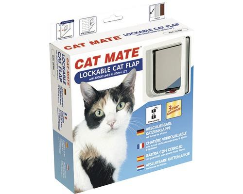 Chatière Cat Mate verrouillable blanche