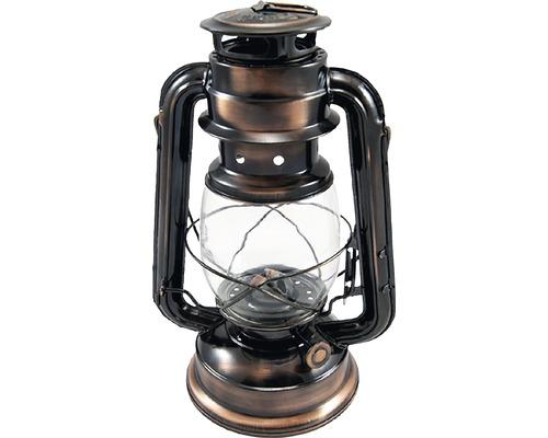 Lanterne tempête Ø12 H25cm, bronze