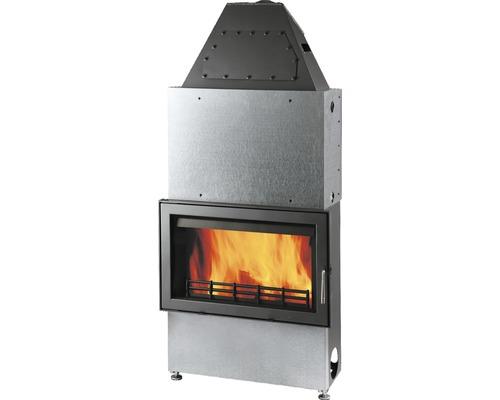 Insert de cheminée hydraulique Haas & Sohn Aqua 187.19-WT acier anthracite 17.4 kW