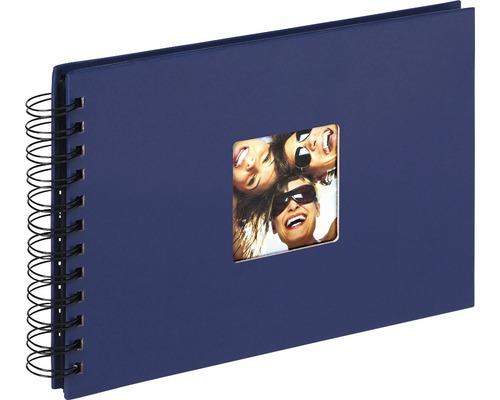 Album à spirale Fun bleu 23x17 cm