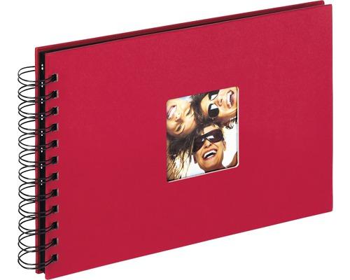 Album à spirale Fun rouge 23x17 cm
