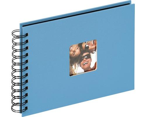 Album à spirale Fun bleu océan 23x17 cm