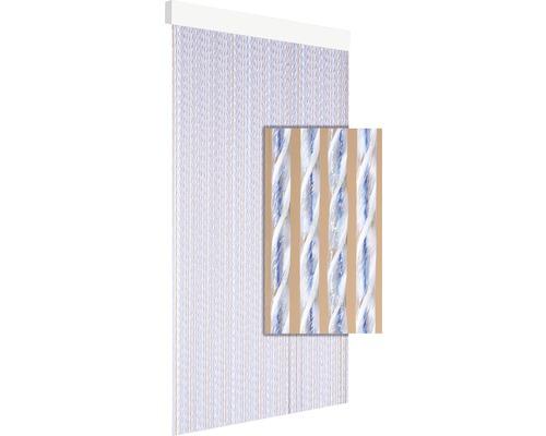 Rideau de porte Tinca bleu 90x210 cm