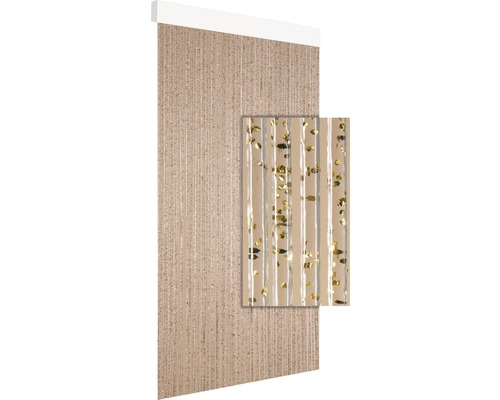 Rideau de porte Calisto or 90x210 cm