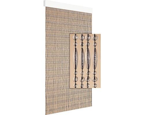 Rideau de porte Cyprus transparent-noir 90x210 cm