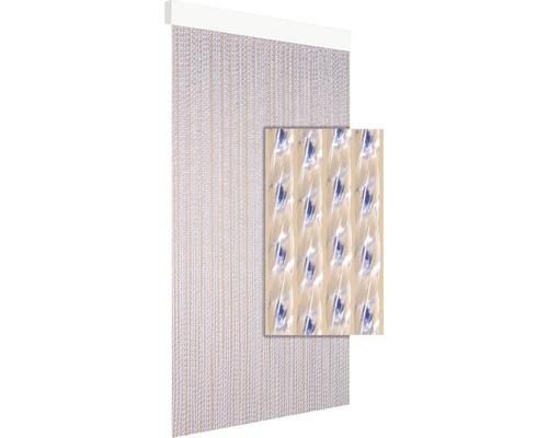 Rideau de porte Milan bleu 90x210 cm