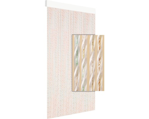 Rideau de porte Tinca pastel 90x210 cm