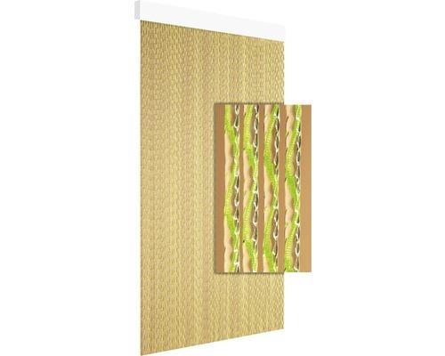 Rideau de porte Paola marron vert 90x210 cm