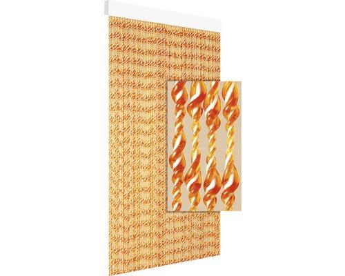 Rideau de porte Ember terracotta-blanc 90x210 cm