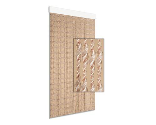 Rideau de porte Ember orange/blanc 90x210 cm