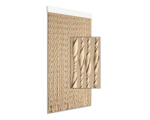Rideau de porte Ambra marron/beige 90x210 cm