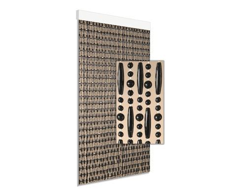 Rideau de porte Cyprus noir 90x210 cm