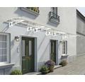 Vordach Bordeaux 670,5x139 cm weiß Polycarbonat klar