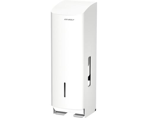 Distributeur de papier toilette AIR-WOLFAlpha acier inoxydable blanc