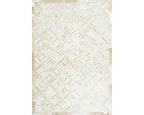 Tapis en cuir Exotic 510 ivoire-or 80x150 cm