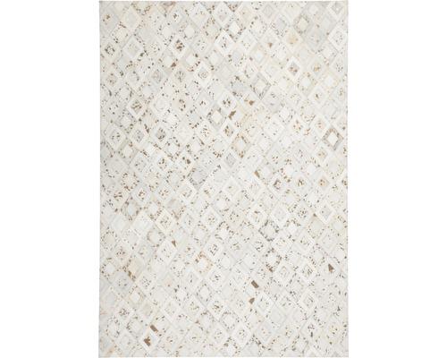 Tapis en cuir Exotic 210 ivoire-chrome 80x150 cm