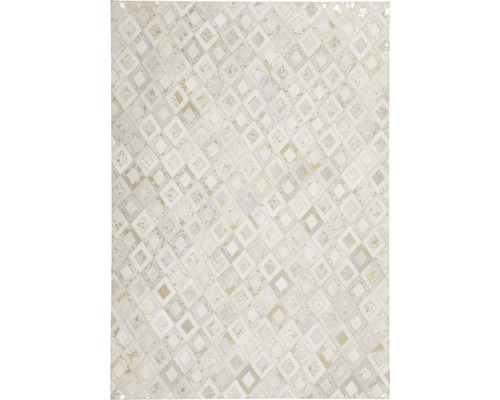 Tapis en cuir Exotic 210 ivoire-or 80x150 cm