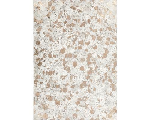 Tapis en cuir Exotic 310 ivoire-chrome 80x150 cm