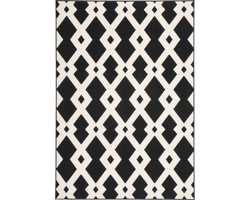 Tapis Novella 150 noir-blanc 80x150 cm