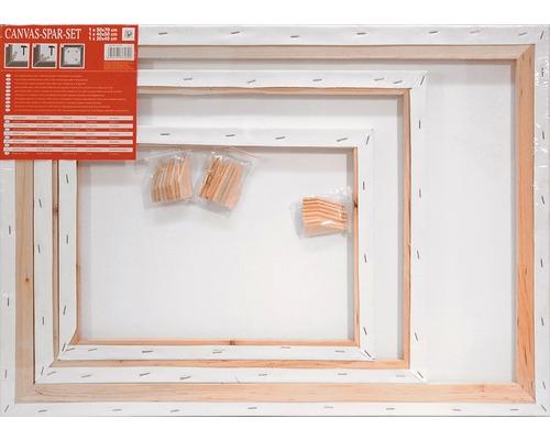 Toile à peindre lot économique 30x40 cm + 24x30 cm + 18x24 cm