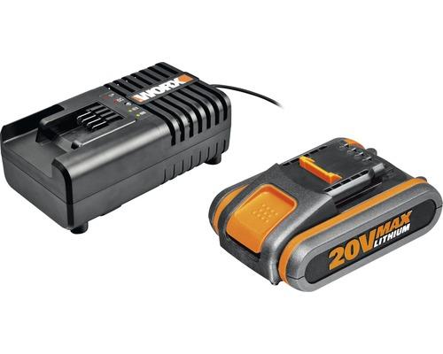 Akku und Ladegerät WORX WA3601 20 V, 2 Ah