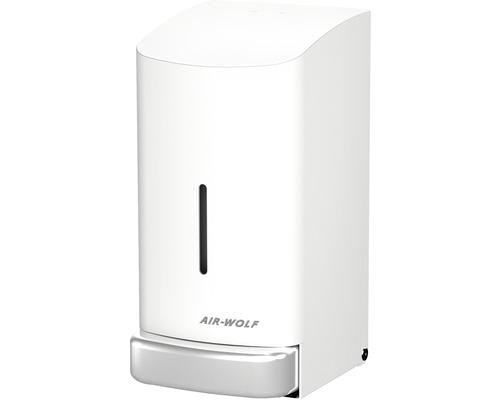 Distributeur de savon AIR-WOLF Alpha 800 ml acier inoxydable blanc
