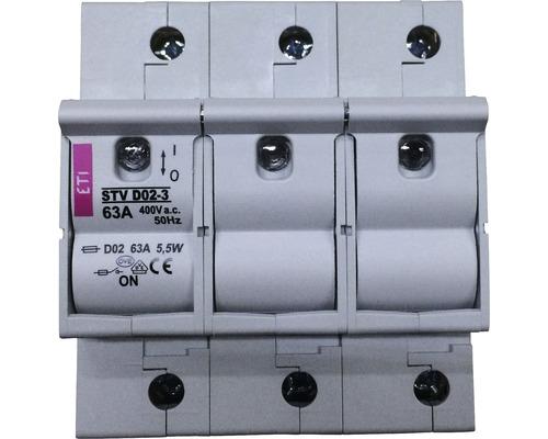 Interrupteur sectionneur fusible STV D02-3 63A 3 pôles 002271004