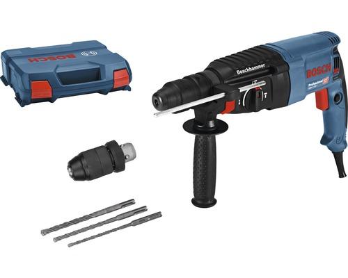 Marteau perforateur avec SDS plus Bosch Professional GBH 2-26 F avec coffret de transport, mandrin à changement rapide 13 mm et kit de forets 3 pièces SDS plus-5 (6/8/10 mm)