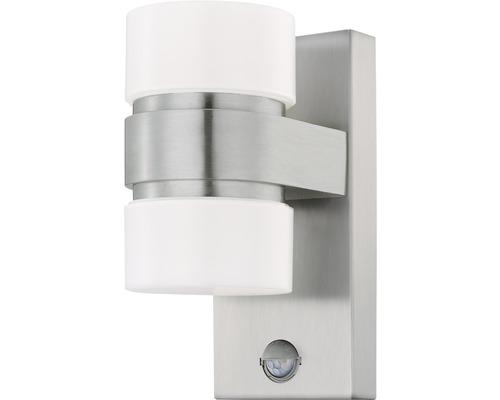 Applique extérieure à capteur LED 2x6W 1.000lm 3.000K blanc chaud h 300mm Atollari argent/blanc