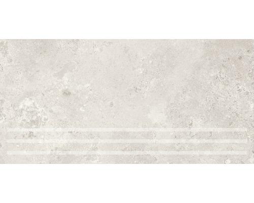 Marche d''escalier Traccia bianco 30x61 cm