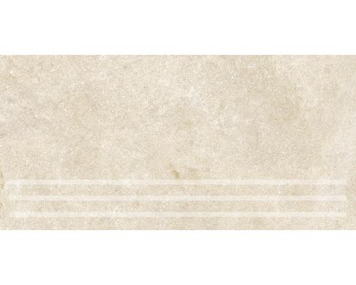 Marche d''escalier Traccia beige 30x61cm