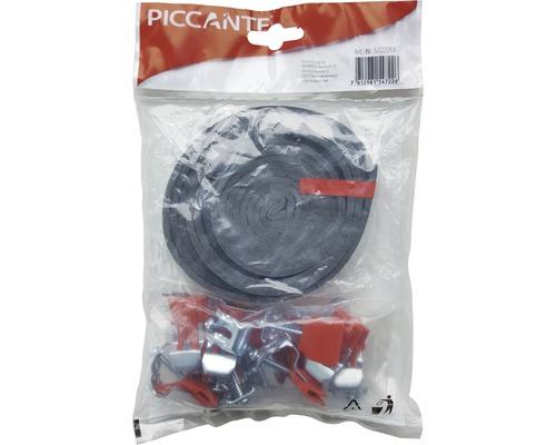 Matériel de fixation pour éviers PICCANTE (composé de 10 pinces + 3 m ruban isolant)