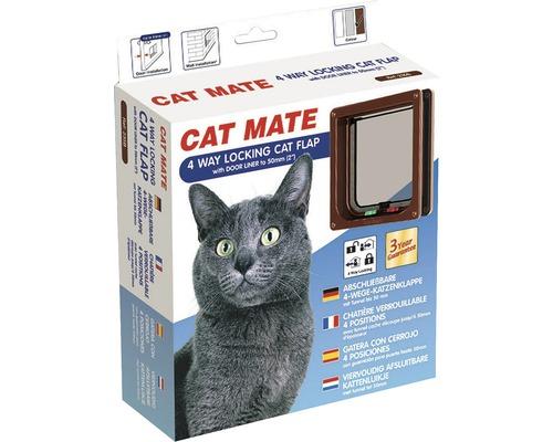 Chatière Cat Mate 4 sens verrouillage par aimant 192x200mm marron