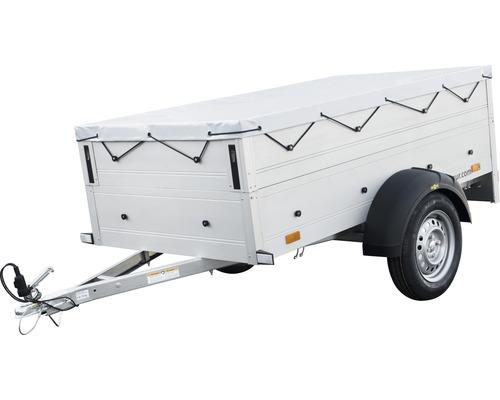 Remorque à un essieu Startrailer Humbaur Cover Plus non freinée, avec rehausse de ridelle et bâche plate