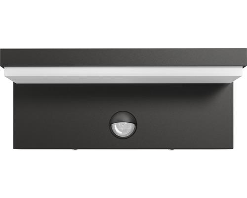 Applique extérieure LED à capteur 4,5W 1000lm blanc chaud Bustan anthracite