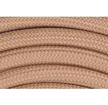 Câble textile malléable T03VVT-F 2x0,75 + CU marron clair 1,5m-thumb-2