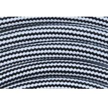Câble textile malléable T03VVT-F 2x0,75 + CU noir/rayé 1,5m-thumb-2
