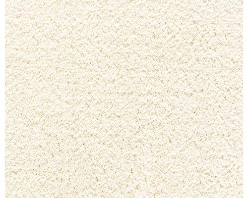 Moquette velours frisé Silkysoft crème, largeur 400cm (au mètre)