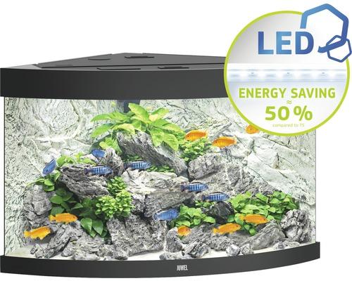 Aquarium Juwel Trigon 190 LED avec éclairage,filtre et chauffage sans sous-meuble noir