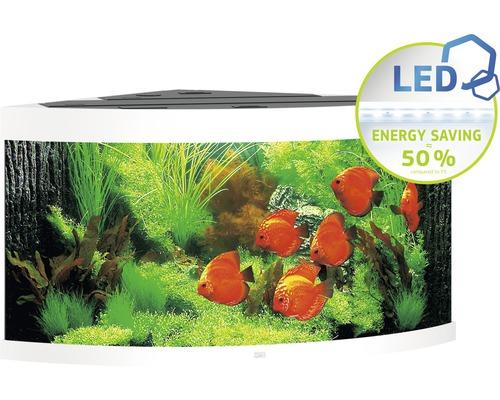 Aquarium Juwel Trigon 350 LED avec éclairage,filtre et chauffage sans sous-meuble blanc