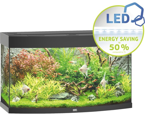 Aquarium Juwel Vision 180 LED avec éclairage,chauffage et filtre sans sous-meuble noir