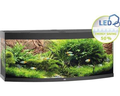 Aquarium Juwel Vision 450 LED avec éclairage,chauffage et filtre sans sous-meuble noir
