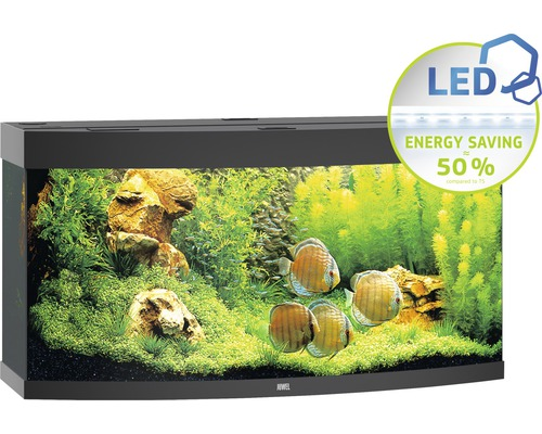 Aquarium Juwel Vision 260 LED avec éclairage,chauffage et filtre sans sous-meuble noir