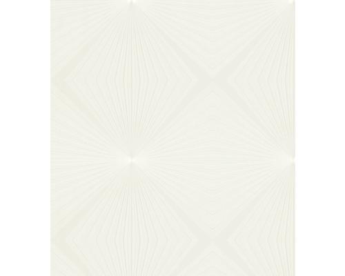 Papier peint intissé Glööckler Deux graphique blanc crème