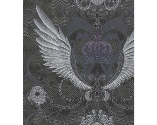 Papier peint non tissé Glööckler Deux Ornemental noir/argent