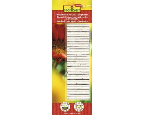 Bâtonnets d''engrais longue durée pour plantes vertes et plantes ornementales FloraSelf Select 30 pièces