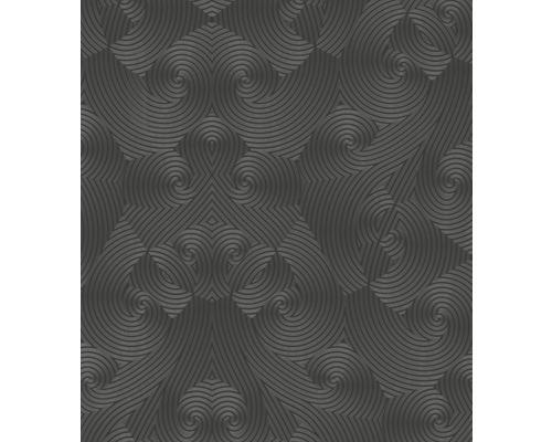 Papier peint intissé Glööckler Deux Uni noir