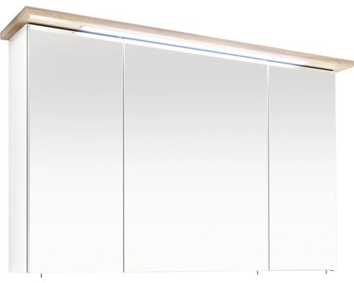 Spiegelschrank pelipal 3 trg. Noventa Cesa III weiß 72x115 cm IP 44 (fremdkörper- und spritzwassergeschützt)