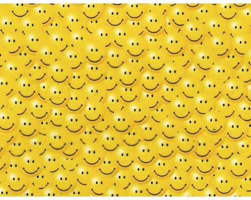 Film d''impression à l''eau Smileys jaune CD-12-ZM 100 x 50 cm