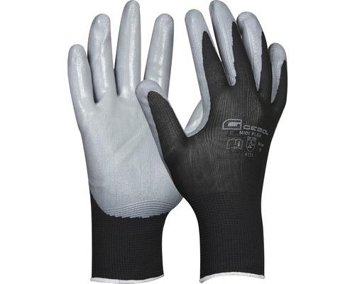 Gant de travail gris/noir Midi-Flex taille 9